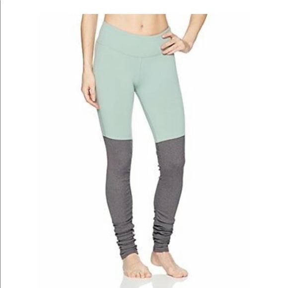 e9d0be13049baa ALO Yoga Pants | Alo Teal And Light Grey Goddess Legging | Poshmark